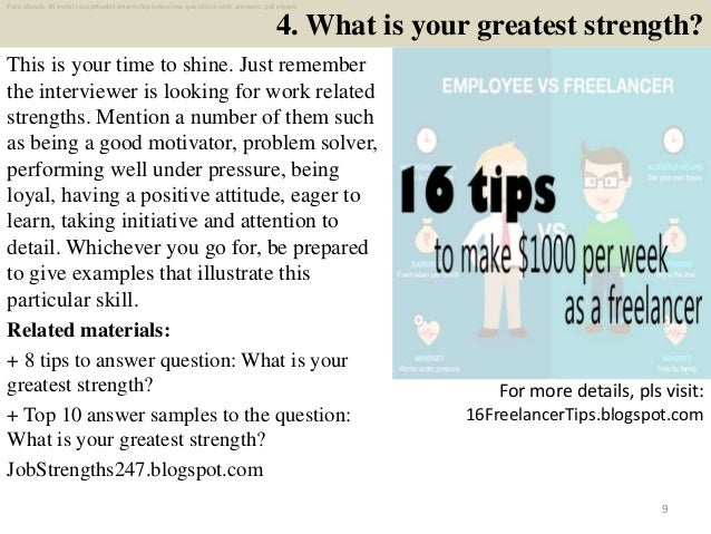 Top 45 hotel receptionist internship interview questions ...