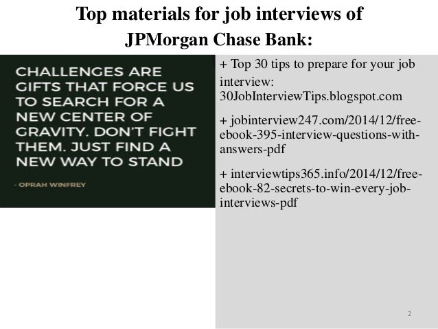 Top 45 jp morgan chase bank interview questions and answers pdf