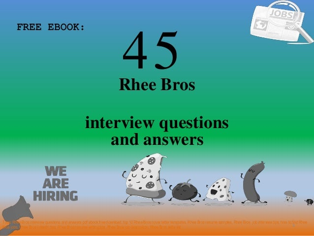 Top 45 rhee bros interview questions and answers pdf 45 1 rhee bros interview questions free ebook tags rhee bros interview questions and top materials for fandeluxe Gallery
