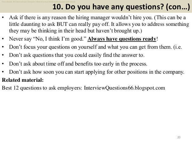 Top 45 seneca glass company interview questions and answers pdf