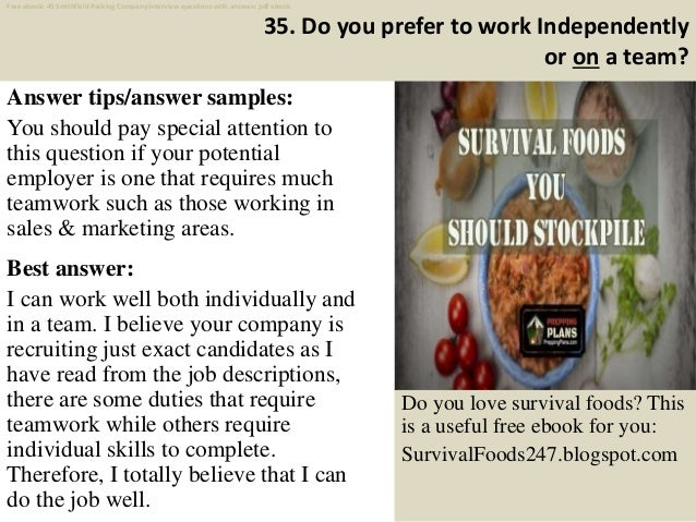 Top 45 smithfield packing company interview questions and