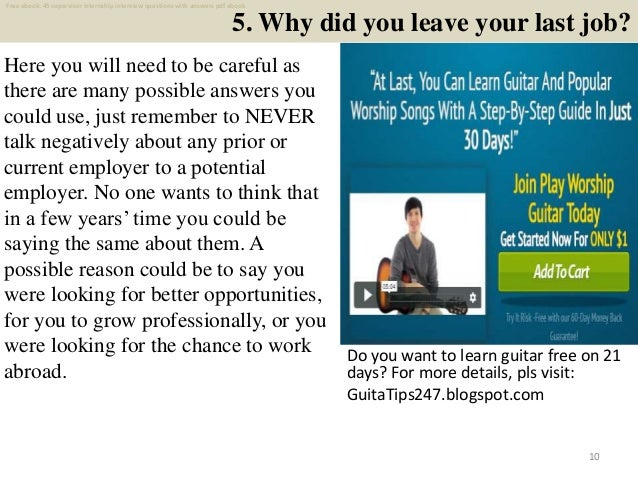 Top 45 supervisor internship interview questions and ...