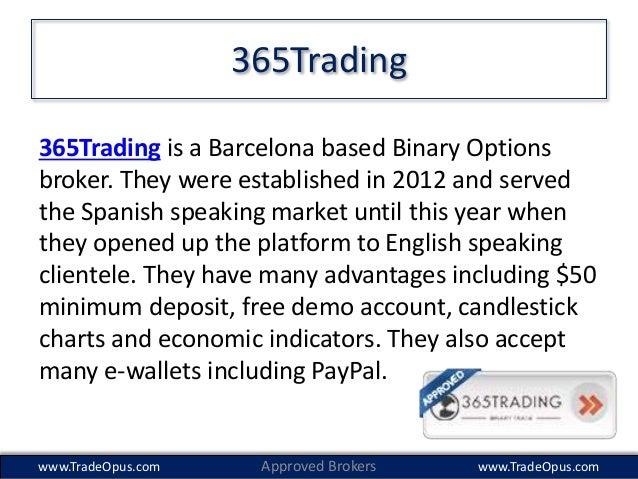 Binary Options 50 Minimum Deposit On Paypal On 365 Trading