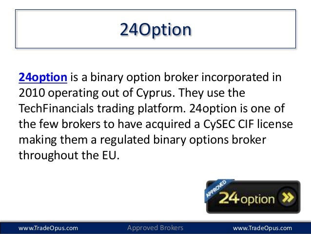 Regular binary options