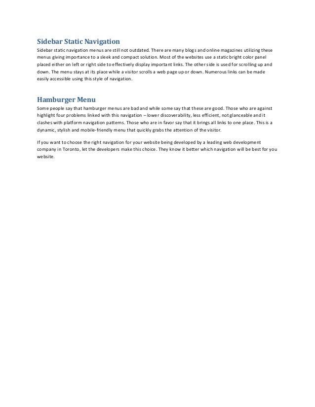 Top 4 navigation menu styles for websites Slide 2