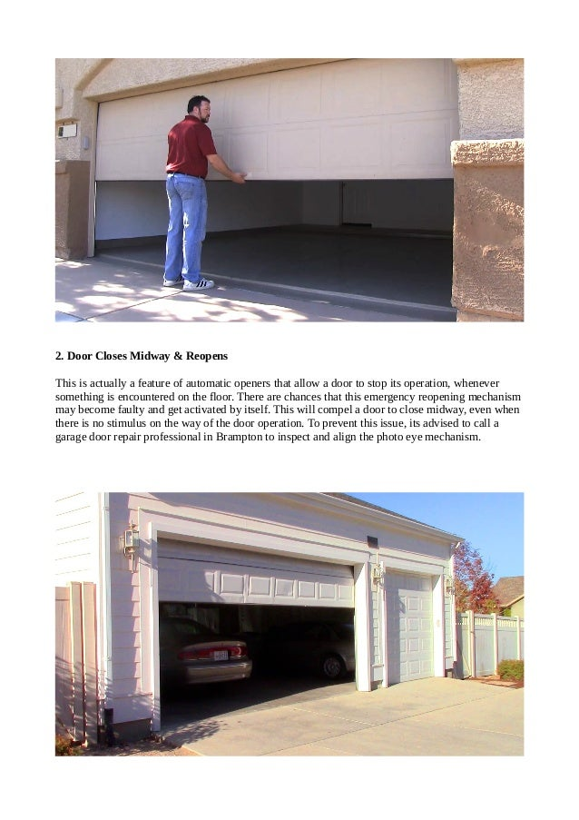 Top 4 Problems Faced By Automatic Garage Doors