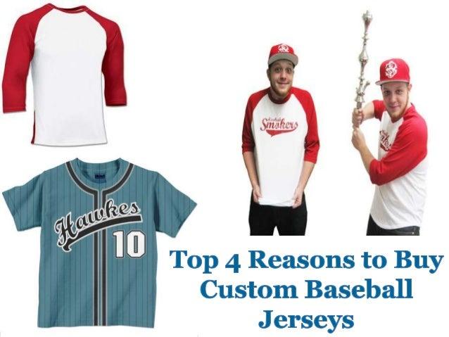 Top 4 reasons to buy custom baseball jerseys