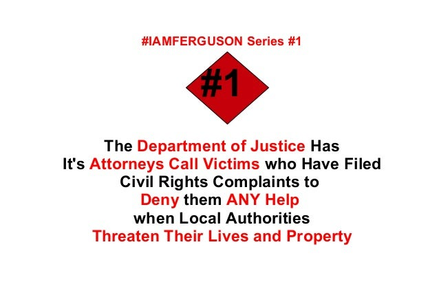 Top 4 things the doj did to eliminate my civil rights complaint