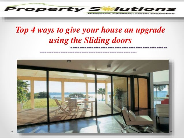 Top 4 ways to give your house an upgrade  using the Sliding doors