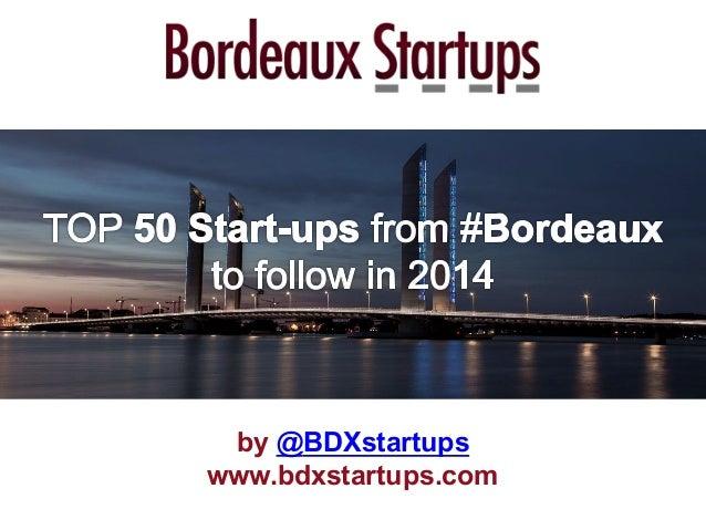 by @BDXstartups www.bdxstartups.com