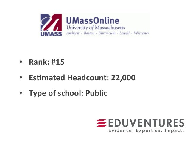 • Rank:  #15   • Es.mated  Headcount:  22,000   • Type  of  school:  Public   Evidence. Expertise. Im...