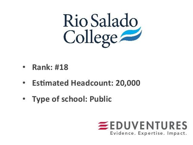 • Rank:  #18   • Es.mated  Headcount:  20,000   • Type  of  school:  Public   Evidence. Expertise. Im...
