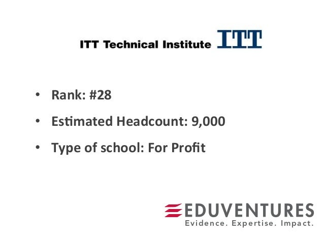 • Rank:  #28   • Es.mated  Headcount:  9,000   • Type  of  school:  For  Profit   Evidence. Expertis...