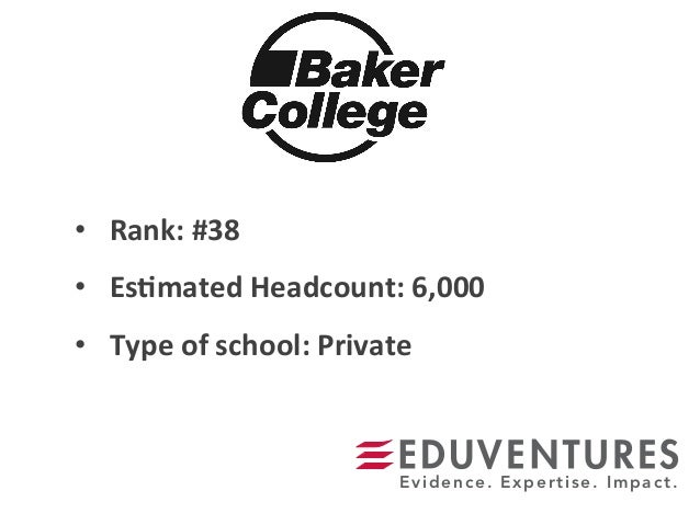 • Rank:  #38   • Es.mated  Headcount:  6,000   • Type  of  school:  Private   Evidence. Expertise. Im...