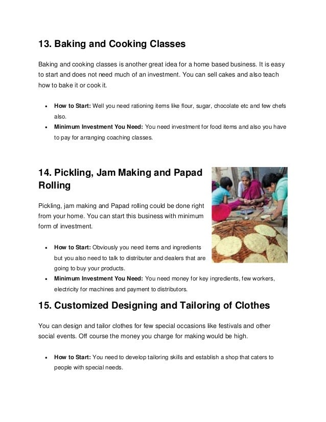 Top 50 home based business ideas with low investment 6 13 ccuart Image collections