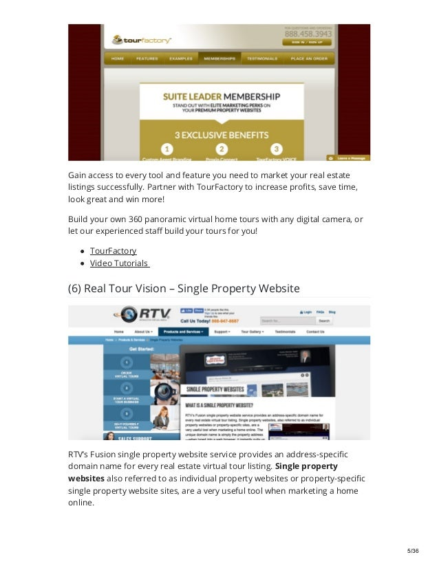 Top 52 Single Property Websites of 2019