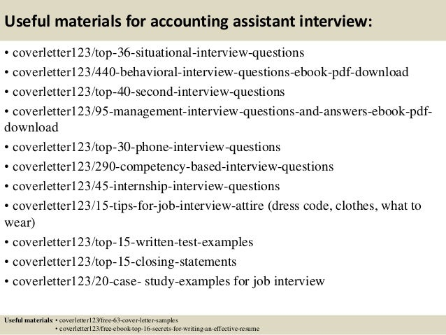 Top 5 Accounting Assistant Cover Letter Samples
