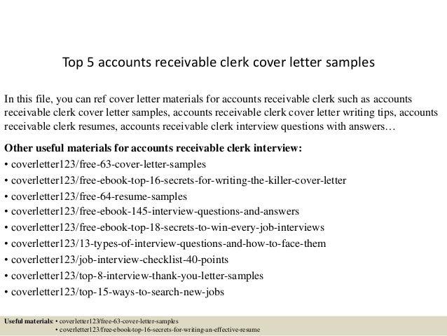 Senior Accounts Receivable Clerk