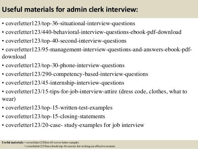 administrative clerk cover letter