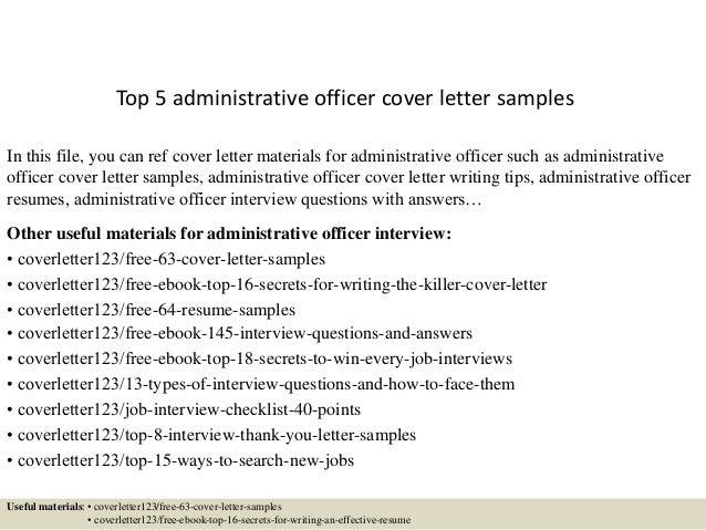 resume administrative officer