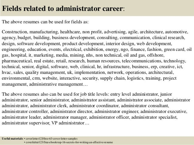 Top 5 Administrator Cover Letter Samples