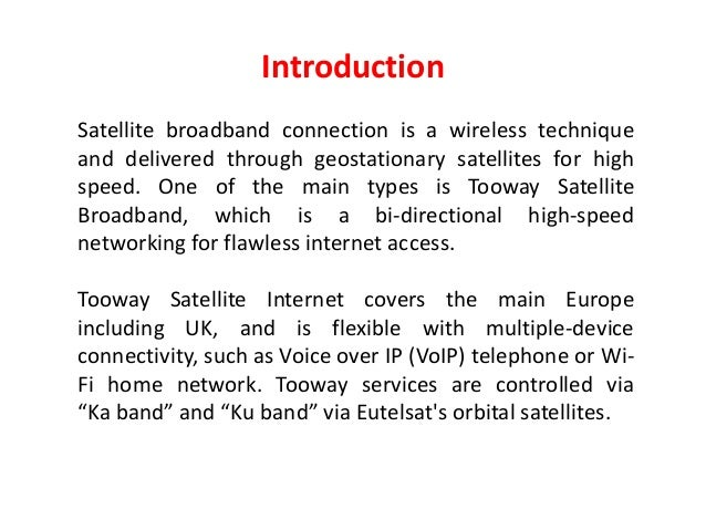 Top 5 Advantages of Tooway Satellite Broadband