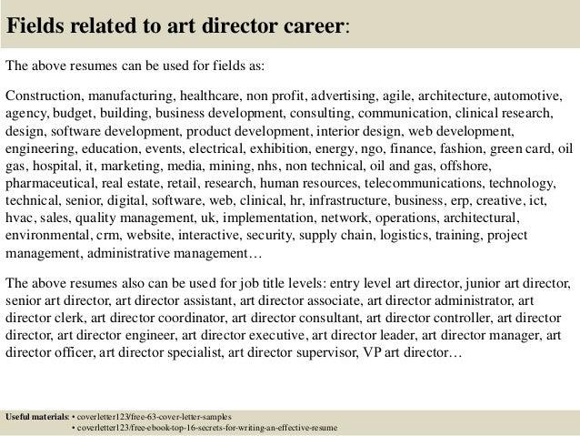 art director cover letter pdf