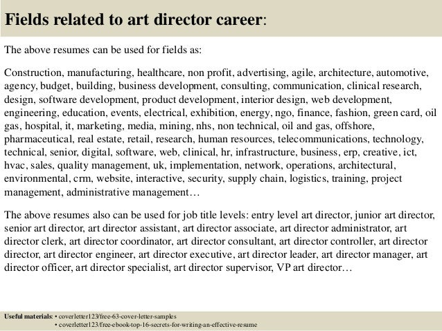 16 fields related to art director