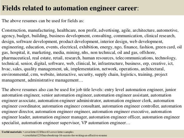 ... 16. Fields Related To Automation ...