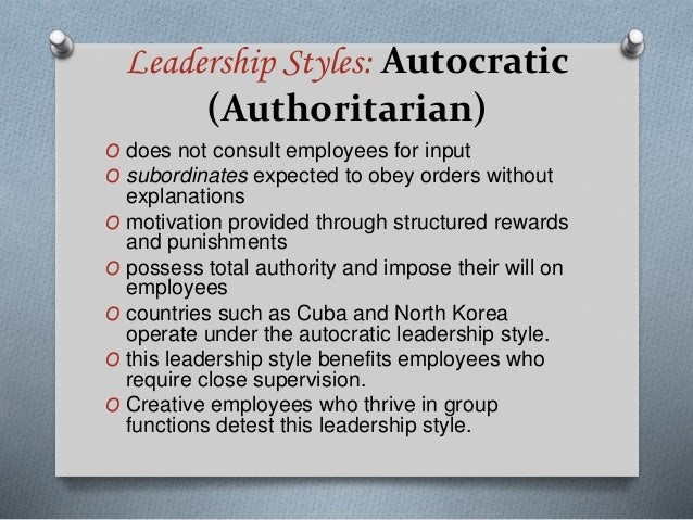 LEADERSHIP STYLES AND EXAMPLES Slide 2