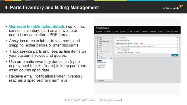 Image Place Holder • Generate billable ticket details (work time, service, inventory, etc.) as an invoice or quote in cros...