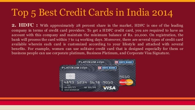 Best credit card options in india
