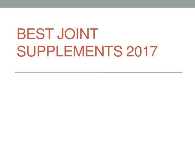 BEST JOINT SUPPLEMENTS 2017