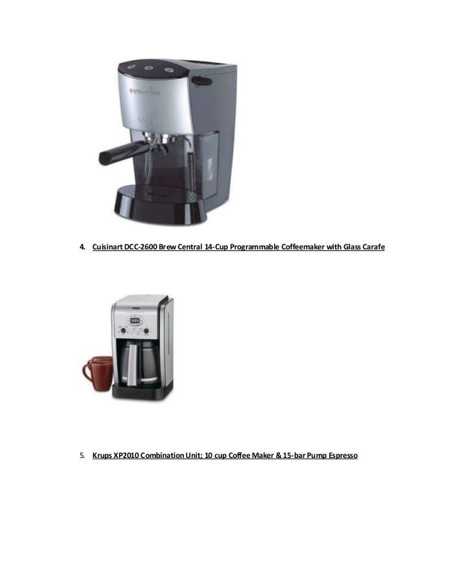 Top 5 Best Rated Coffee Makers 2012 13