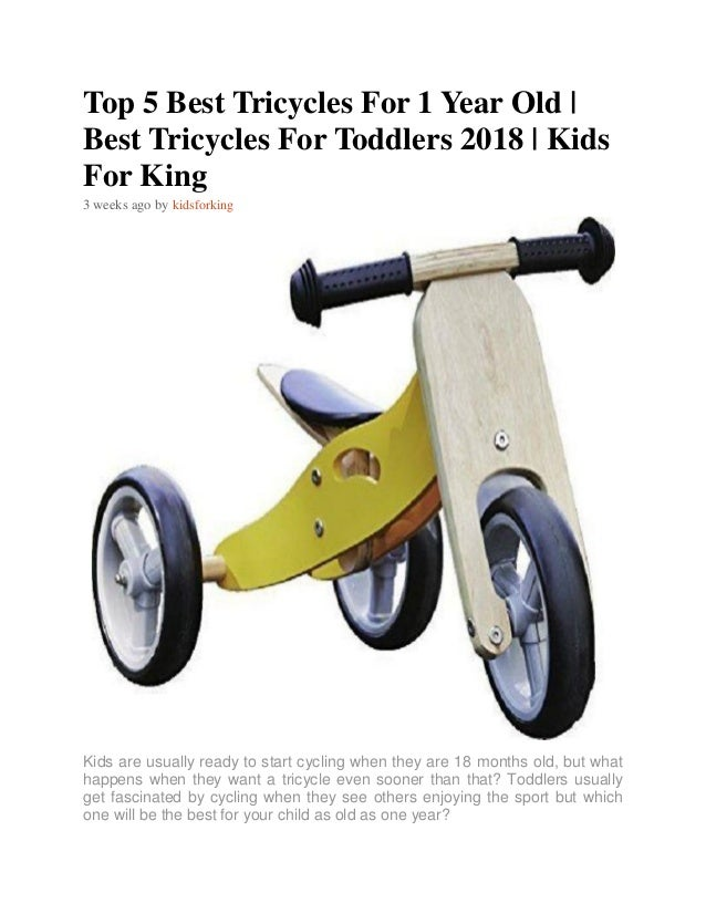 fa3820430fc Top 5 Best Tricycles For 1 Year Old | Best Tricycles For Toddlers 2018 |  Kids for King