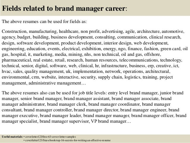 ... 16. Fields Related To Brand ...