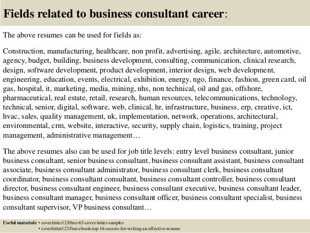 business consultant cover letter - Template