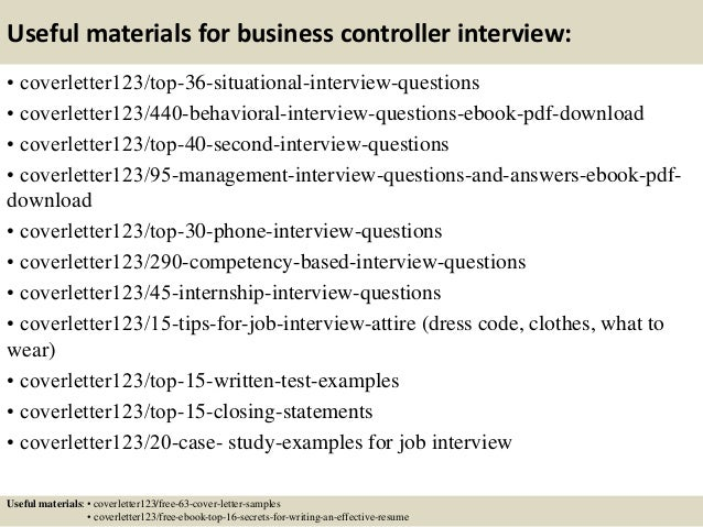 ... 12. Useful Materials For Business Controller ...