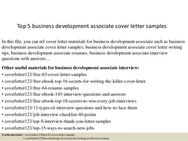 Development Associate Cover Letter