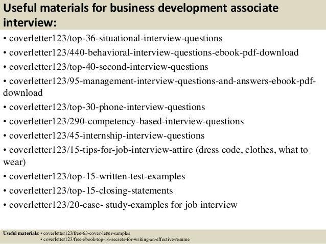 Elegant ... 12. Useful Materials For Business Development Associate ...