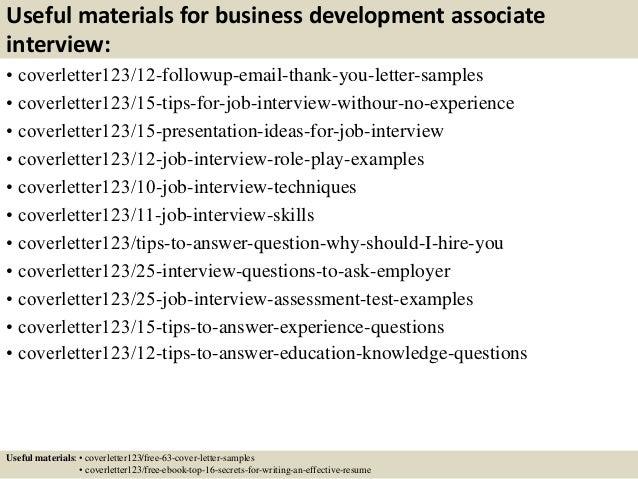 ... 14. Useful Materials For Business Development Associate ...