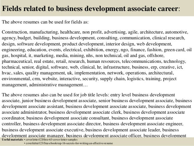 Top 5 business development associate cover letter samples