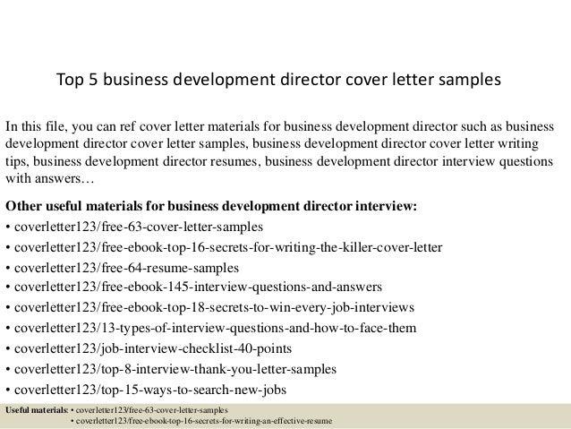 business cover letter samples