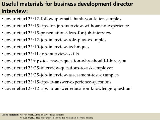 ... 14. Useful Materials For Business Development ...