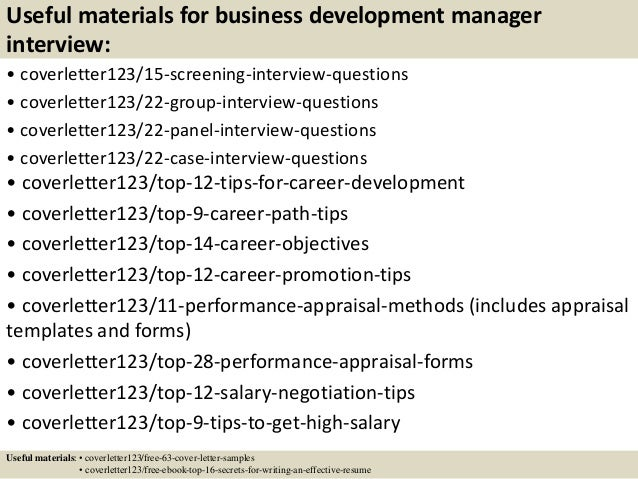 ... 15. Useful Materials For Business Development Manager ...