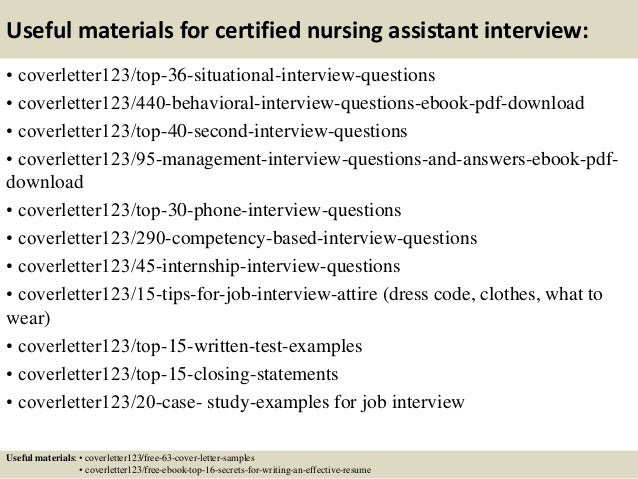 Top 5 certified nursing assistant cover letter samples