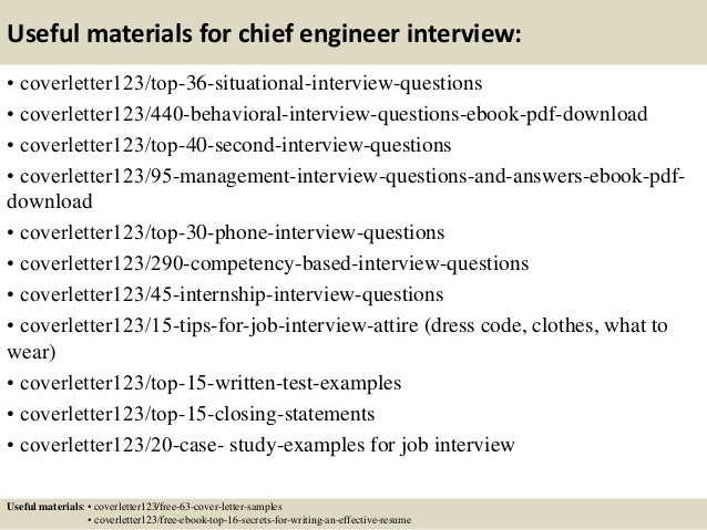 Top 5 chief engineer cover letter samples