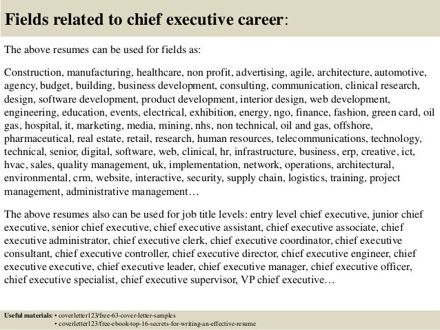Top 5 chief executive cover letter samples