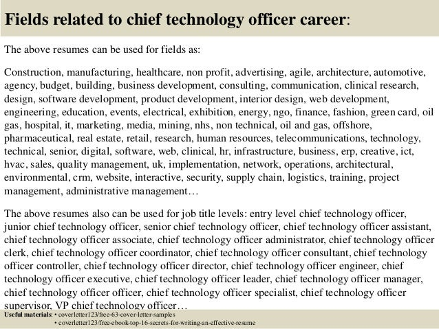 Top 5 chief technology officer cover letter samples – Cto Job Description