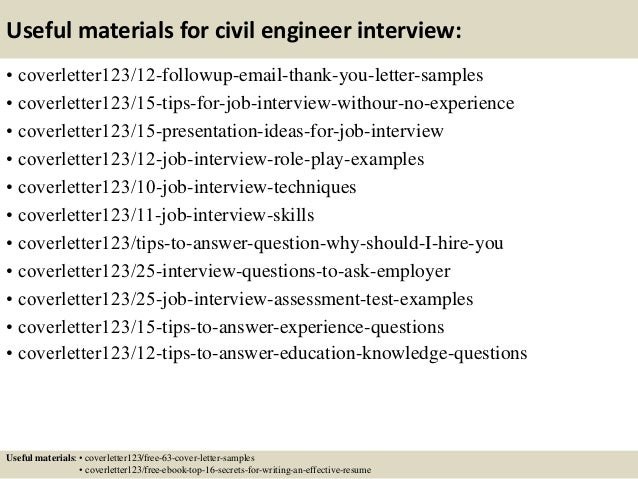 ... 14. Useful Materials For Civil Engineer ...